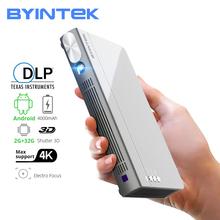 BYINTEK UFO P12 inteligentny 3D Full HD 4K 5G WIFI Android Pico przenośny mikro Mini LED projektor DLP dla Iphone 11 tanie tanio Automatyczna korekcja Korekcja ręczna CN (pochodzenie) 16 09 Focus 300 ANSI lumens 854x480 dpi 300ANSI 30inch-300inch 3000 1