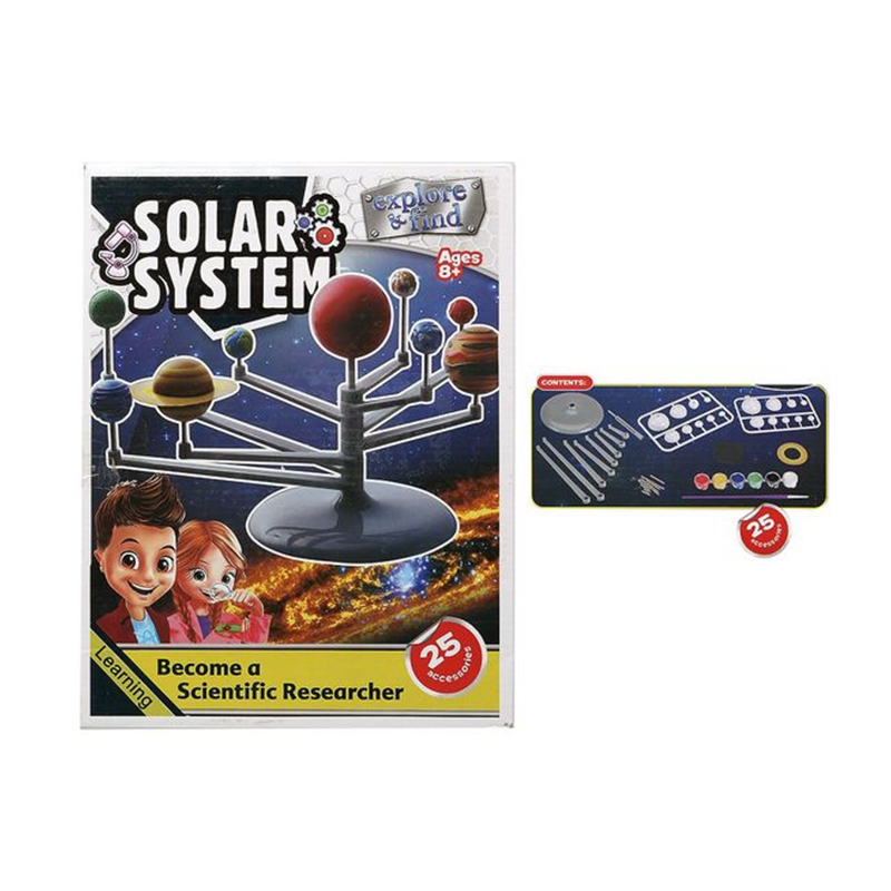 Solar System Puzzle Explore Anf Find 25 Accessories Solar System Design For Kids Puzzles 8+ Years 117752