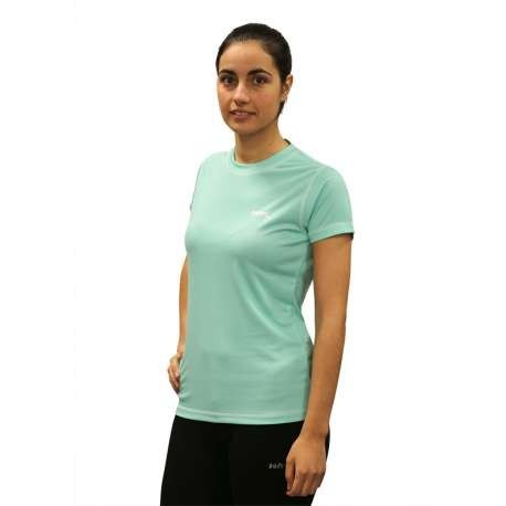 CAMISETA SOFTEE TECHNICS DRY COLORS MUJER - TALLA M - COLOR VERDE AGUA Y BLANCO