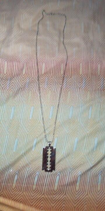 Razor Blade Pendant Necklaces photo review