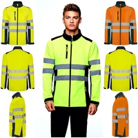 Jacket men High Visibility. Soft shell. CE Certification. Antares