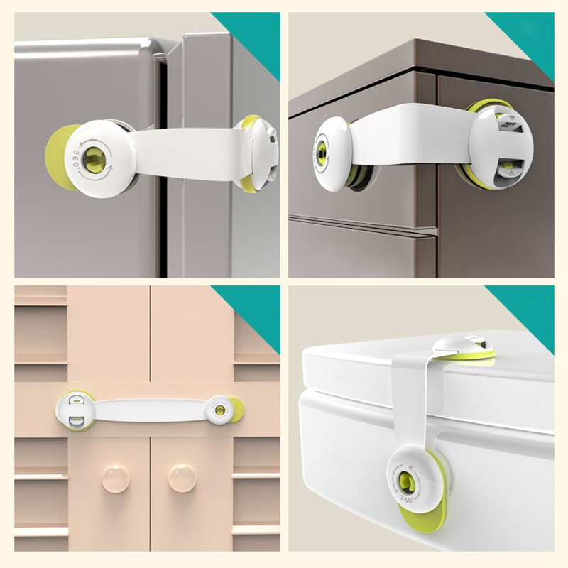 1PC EU Standards Child Lock Protection Of Children Locking Door For Children's Safety Kids Safety Plastic Protection Safety Lock