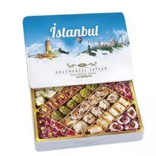 Tuğba Turkish Delight Traditional Flavors İstanbul 540 gr Delicious Metal Box  540  GRAM