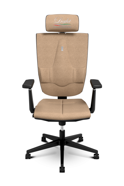 Office Chair KULIK SYSTEM SPACE Caramel Computer Chair Relief And Comfort For The Back 5 Zones Control Spine