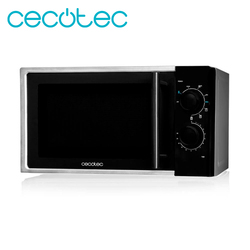 Cecotec Microwave Silver with Grill 9 Power Levels and Defrosting Mode 900W Grill and 3 Combined Modes 20L Capacity