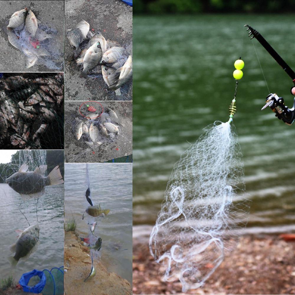 Купить складная рыболовная сеть ловушка клетка литая ловца рыбы ажурная
