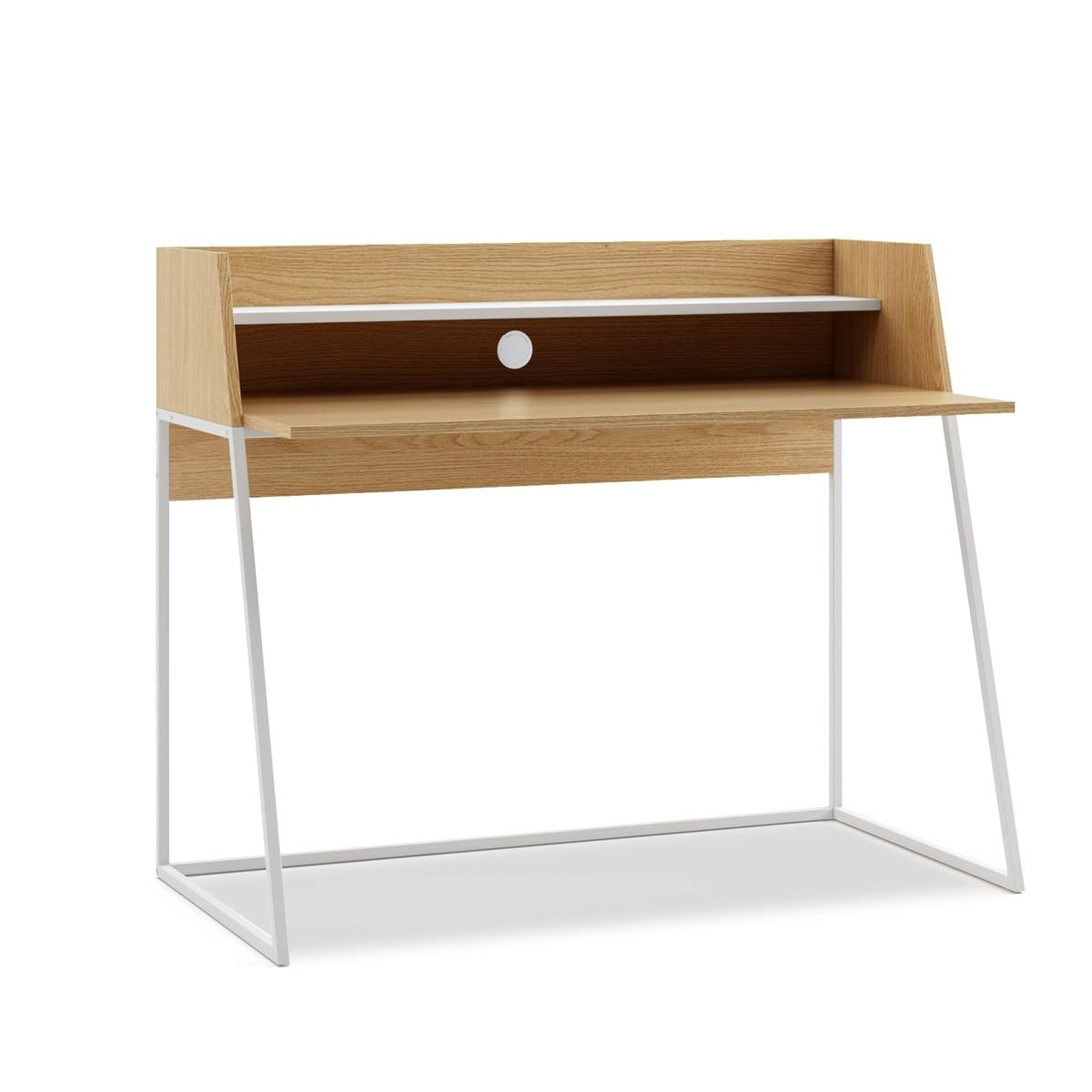 Mc Haus-Desktop Office Dispatch Kala Wood And White 120x62x89cm