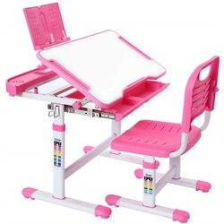 Детский эргономичный Рабочий стол, регулируемый по высоте, детский стул стол для учебы, набор для девочек и мальчиков, письменный стол, стул ...