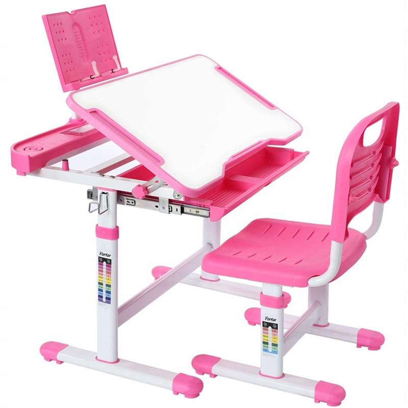Children S Ergonomic Study Desk Height Adjustable Kids Study Table Chair Set Girls Boys Writing Desk Chair W Storage Drawer Children Furniture Sets Aliexpress