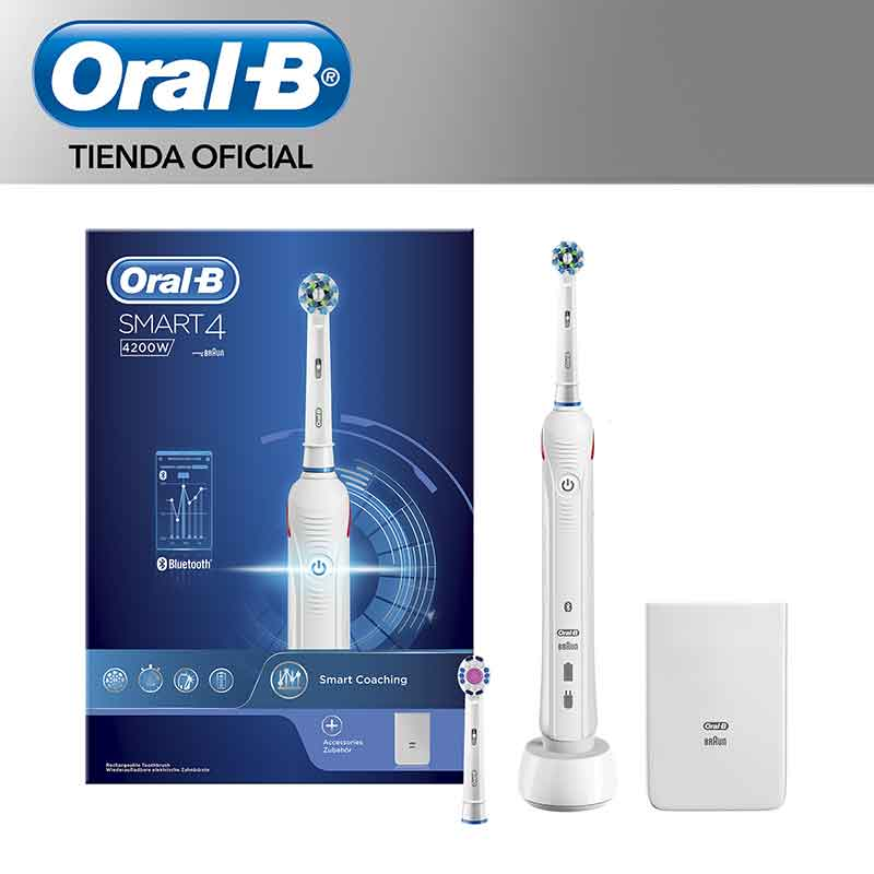 ORAL-B smart 4200 W Electric scrub brush de theeth Rechargeable, 3 Modes Cleaning, Pressure Sensor, Timer proffesional image