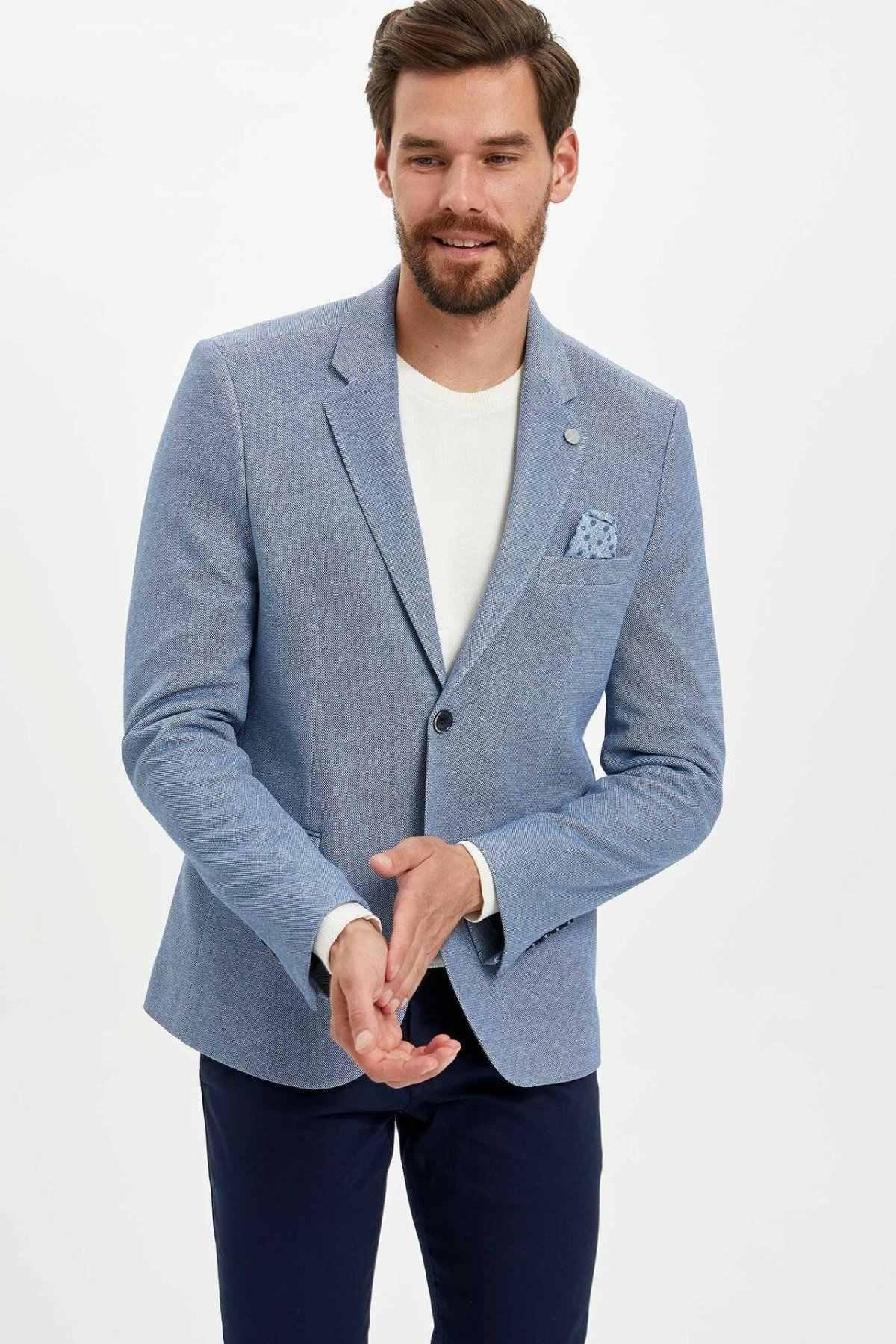自由デファクトファッション正式な男ブレザー高品質秋カジュアルスリムスーツ男性ポケットブレザー男性コート新 L6867AZ19AU