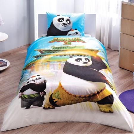 100% Cotton Licensed Kung Fu Panda Bedding Duvet Cover Set Bedding Cover Set For Kids Children Toddler, Boy Or Girl