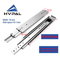 HVPAL 1350 mm 54 inches full extension 227 kg heavy duty ball bearing industrial drawer slides rails telescopic runners