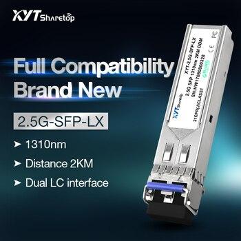 Sharetop 2.5G optical transceiver module single mode dual fiber SFP-2500M-1310nm 2/10/20/40km dual LC port full compatible sharetop 1 25g 1000m optical transceiver module multi mode dual fiber sfp 1000m 850nm 550m dual lc port full compatible