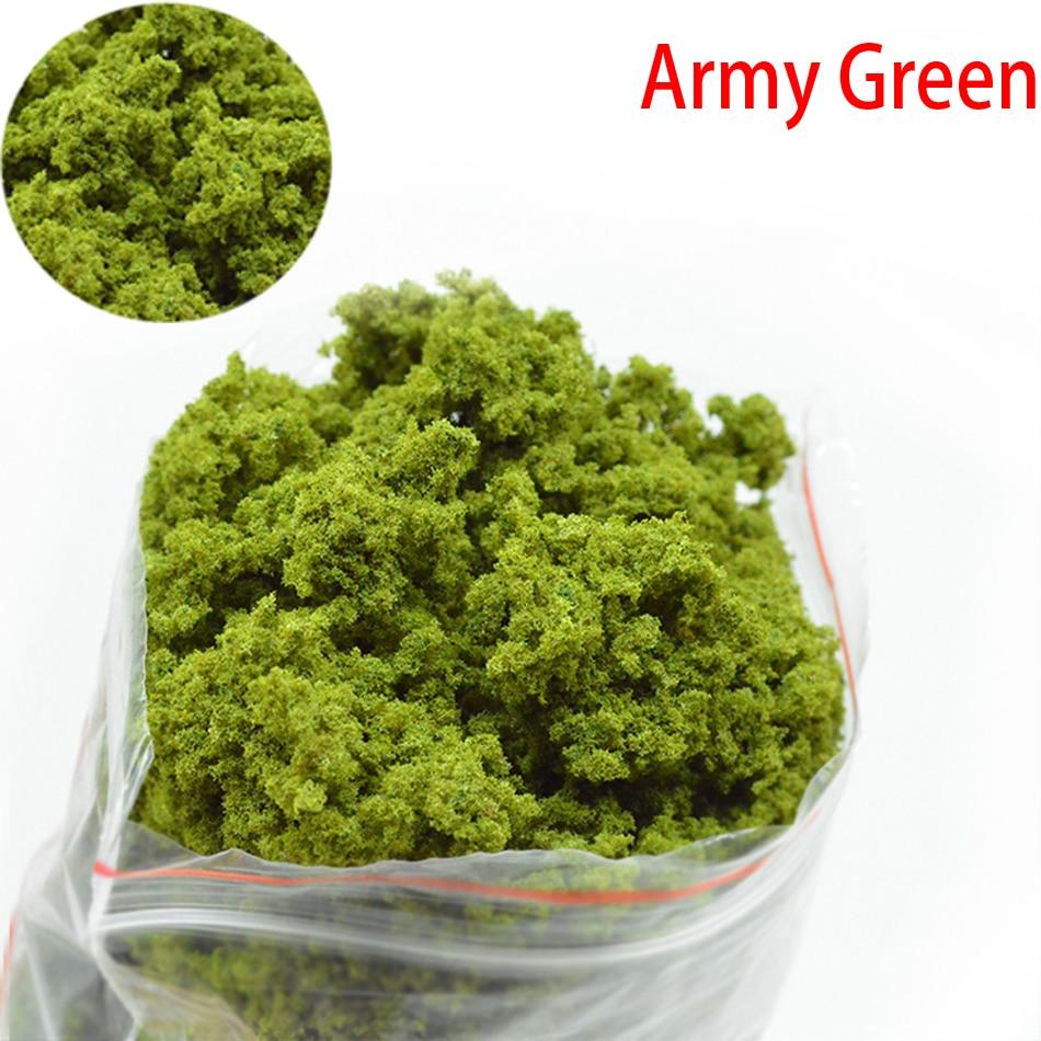 Simulation Tree Powder Model Toy Dark Green HO Train Building Miniature DIY Scene Making Material 50g Green Plant Tufted