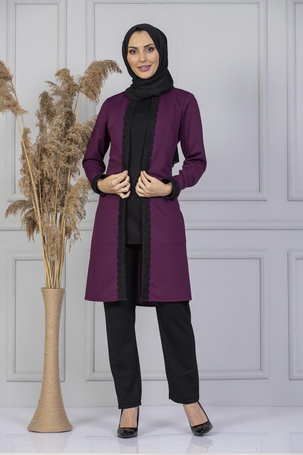 Women Set 2 pieces  Pant Blouse Tunic Muslim Fashion Islamic Clothing Long Sleeves Hijab New Abaya أزياء مسلمة  ملابس إسلامية