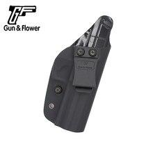 Gunflower ocultação express arma bolsa iwb kydex coldre cinto fora carry caso pistola bolsa se encaixa hk vp9