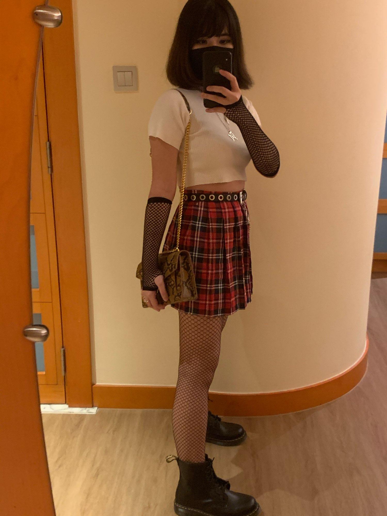 School Uniform Plaid Skirt E-girl Harajuku photo review