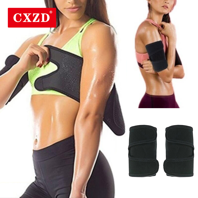 CXZD 1Pair Neoprene Women's Arm Control Shapers WeightLoss Anti Cellulite Sauna Arm Pad Slimming Trimmer Arm Shapers Sleeve Belt