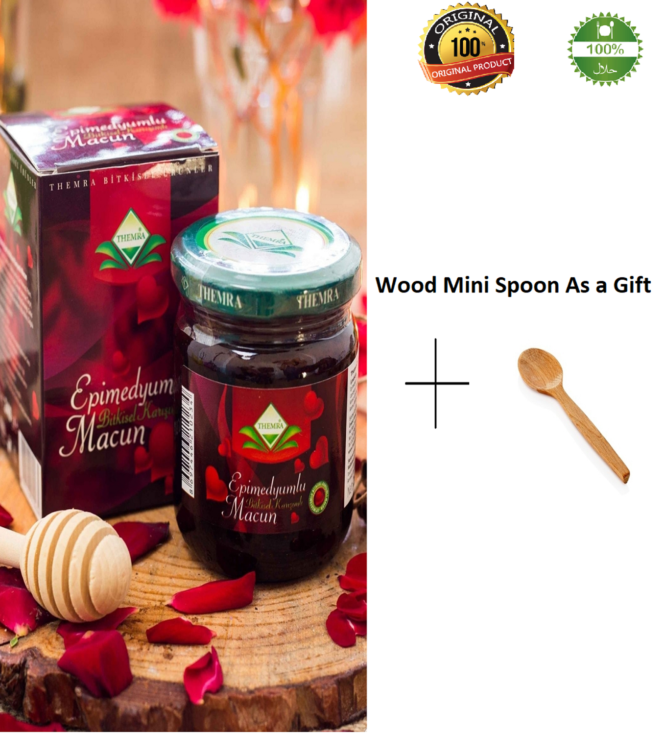 Epimedium Paste Horny Goat Grass Increase Sexuality Healthy Supplement Daily Diet Ginseng Herbal Aphrodisiac 240gr Halal Food
