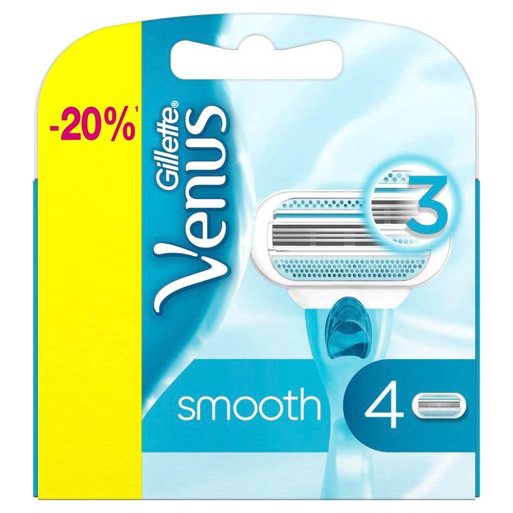 Replaceable cartridges for the Gillette Venus razor, 4 pieces.