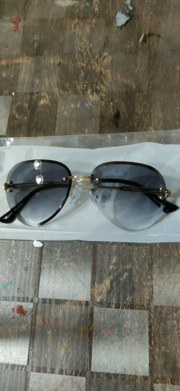 Zonnebril Dames Blue Rimless Luxury Sunglasses for Women photo review
