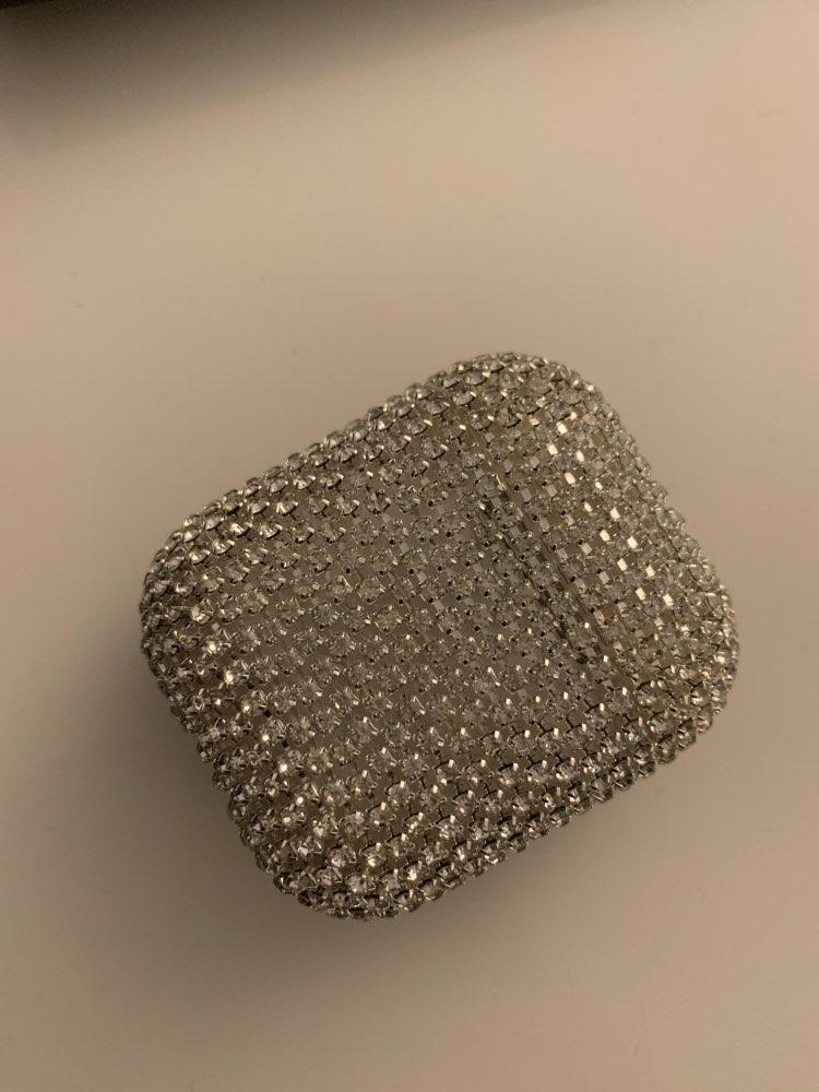 Coque pour écouteurs Airpods 1&2 en strass de Luxe 3D Bling-Bling