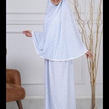 Мусульманский полное покрытие молитва исламское платье Абая традиционные хлопковые Турция женский тонкий два комплект из 2 частей висячий ...