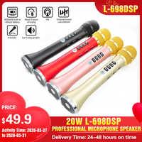 Atualizar L-698 microfone sem fio sem microfone sem fio 20 w L-698DSP microfone portátil bluetooth microfone alto-falante