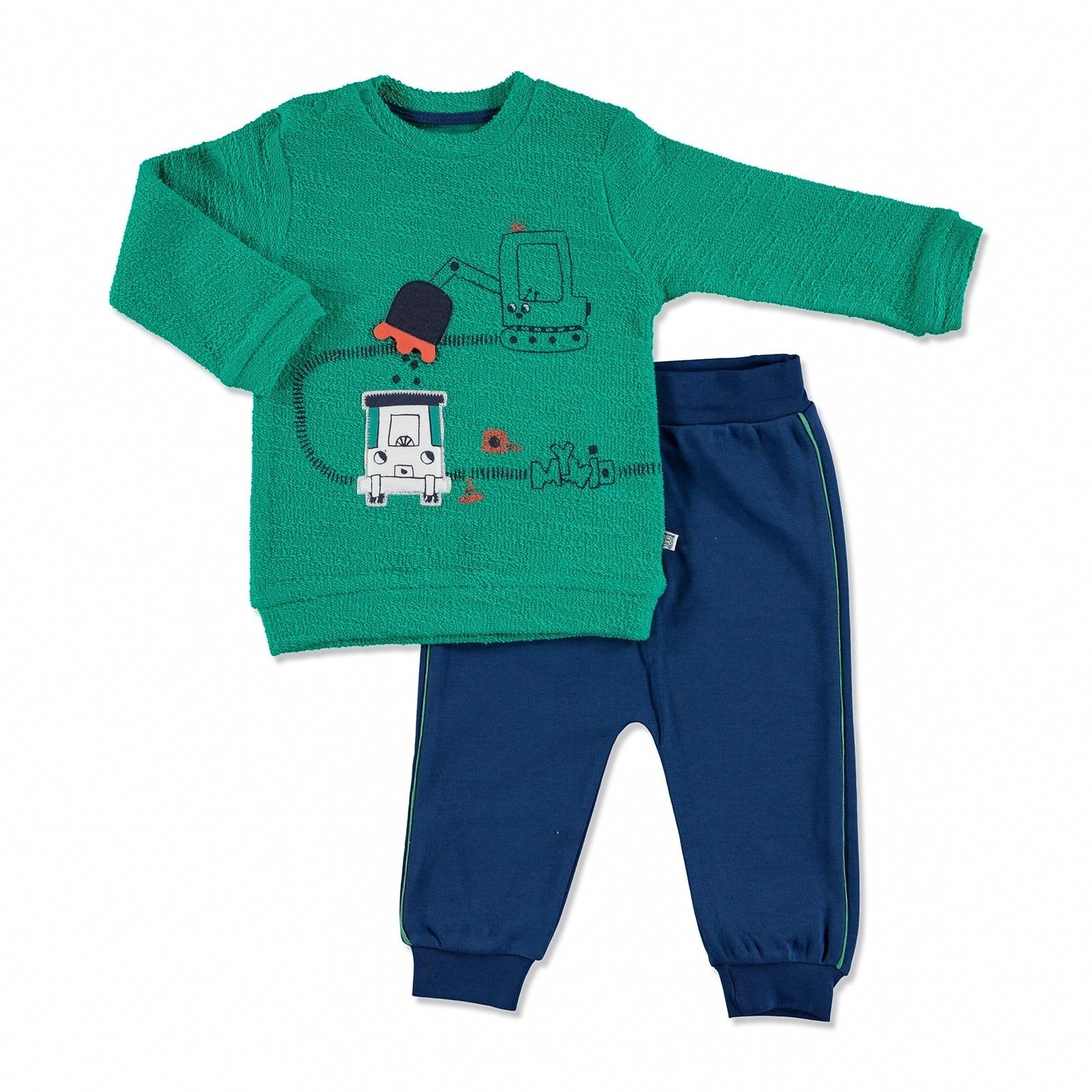 Ebebek Mymio Summer Baby Boy Scoop Long Sleeve Footless Sweatshirt