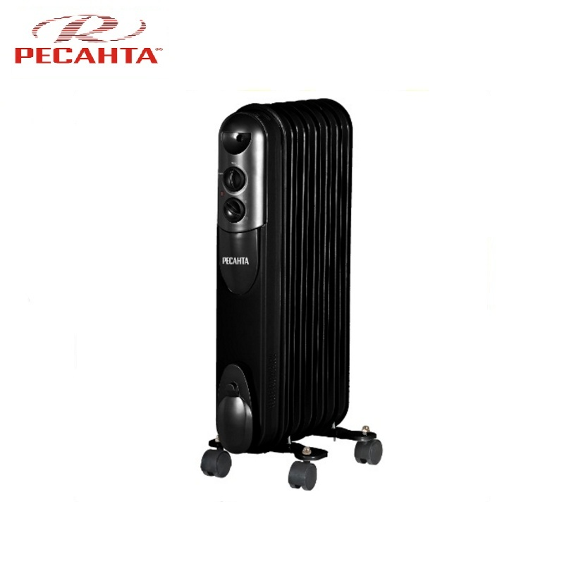 Oil radiator Resanta OMPT-7NCH Air heating Oil heater Space heating Oil filled radiator Sectional radiator oil radiator resanta om 5n air heating oil heater space heating oil filled radiator sectional radiator