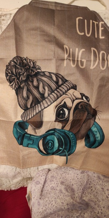 Cute Dog Pattern Kitchen Apron photo review