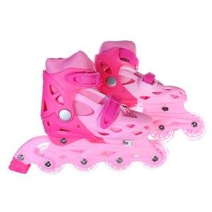 Rollers SKATE ROLLER SLIDING, BASE PLASTIC, WHEELS PVC, M: 35-38, 4 COLORS, comfortable beautiful rubber