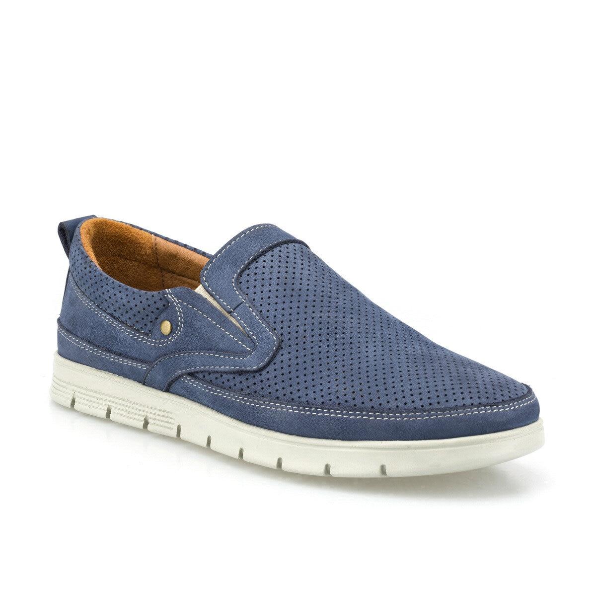 FLO 102101NM Navy Blue Men 'S Comfort Shoes Polaris 5 Point