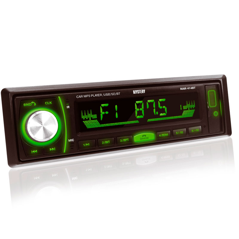 Car radio MYSTERY MAR-414BT (BLUETOOTH, 8 options backlight, removable, DRIVE, Usb, Sd Slot AUX I mystery mar 929u