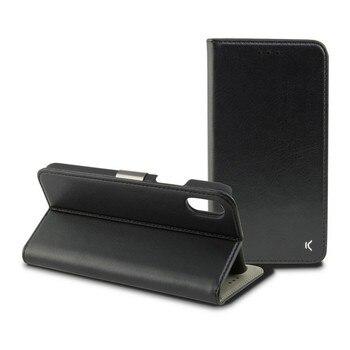 Folio Handy Fall Iphone Xs Max Schwarz auf