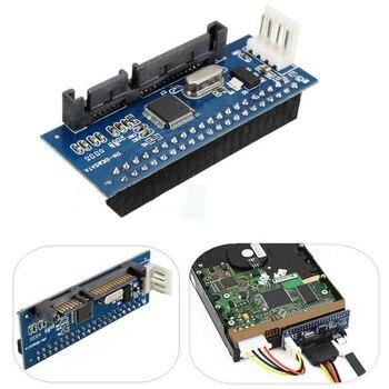 100PCS SATA IDE adapter 40 pin IDE to SATA converter SATA-IDE converter 3.5 HDD IDE hard disk adapter with 7 pin-SATA Data Cable