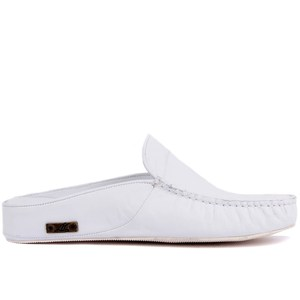 Image 1 - Sail Lakers Genuine Leather Men Slippers Rubber Soled Outdoor Slipper Flat Slippers Slip On Fashion Luxury Loafers zapatos de mujer туфли женские обувь женская
