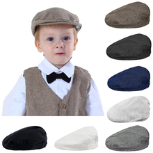 Baby Boys Herringbone Flat Hat Kids Child Elastic Berets Hats Children Party Cap Infant Hat Toddler Lid Vintage Driver Caps