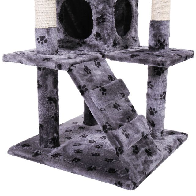 Pet Cat Tree Toy Condo Cat Climbing Tower Multi-layer With Hammock Cat House Furniture Scratching Solid Wood Post for Cat 6