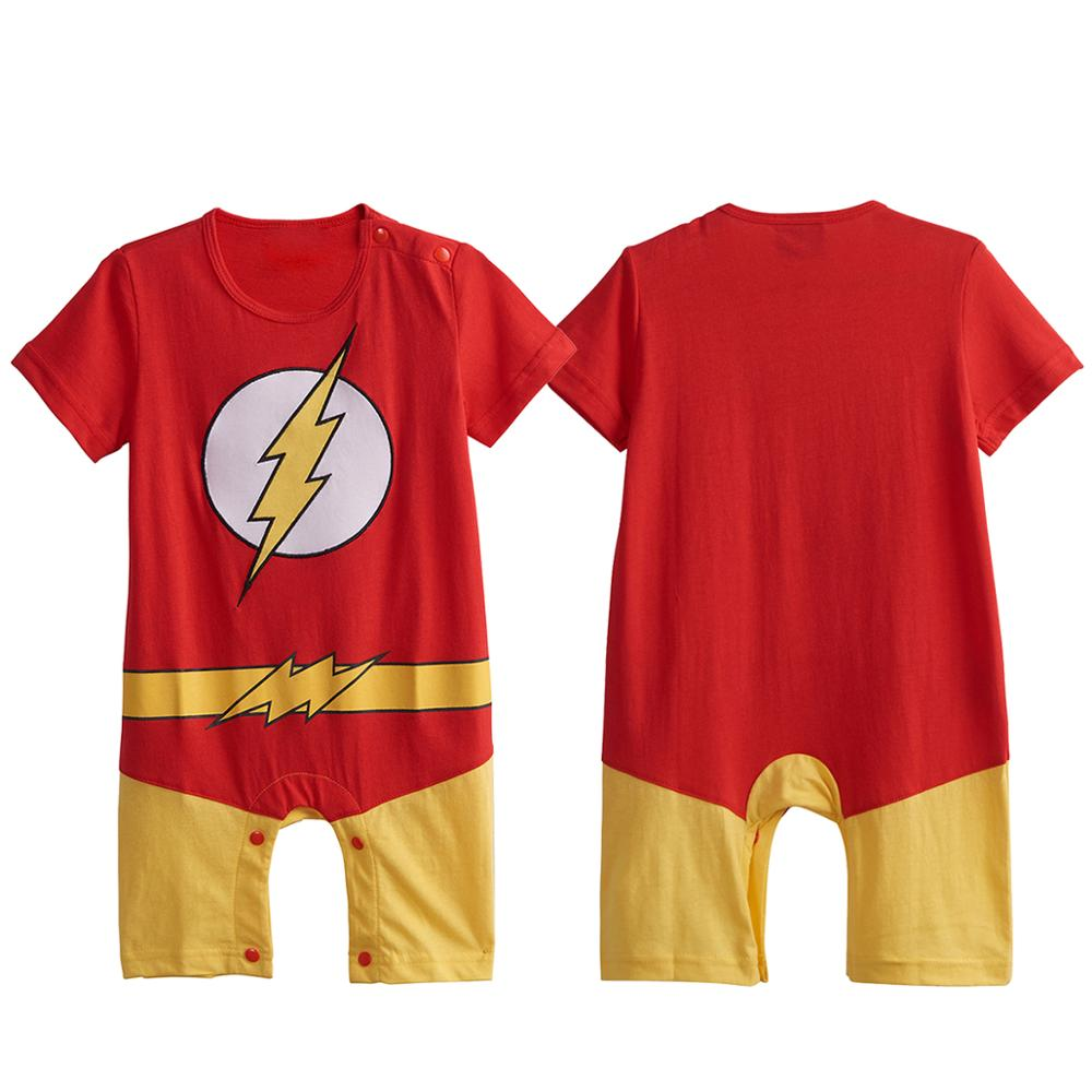 Toddler Baby Boys Girls Superhero Cartoon Costume Outftis Tracksuit Romper Set