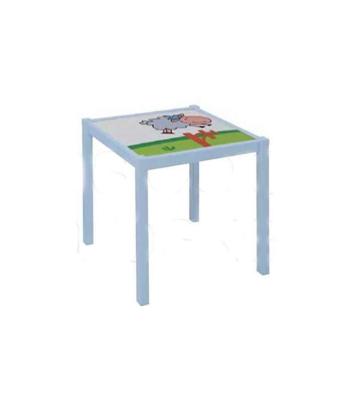 Child Table Sheep White And Green Sheepskin