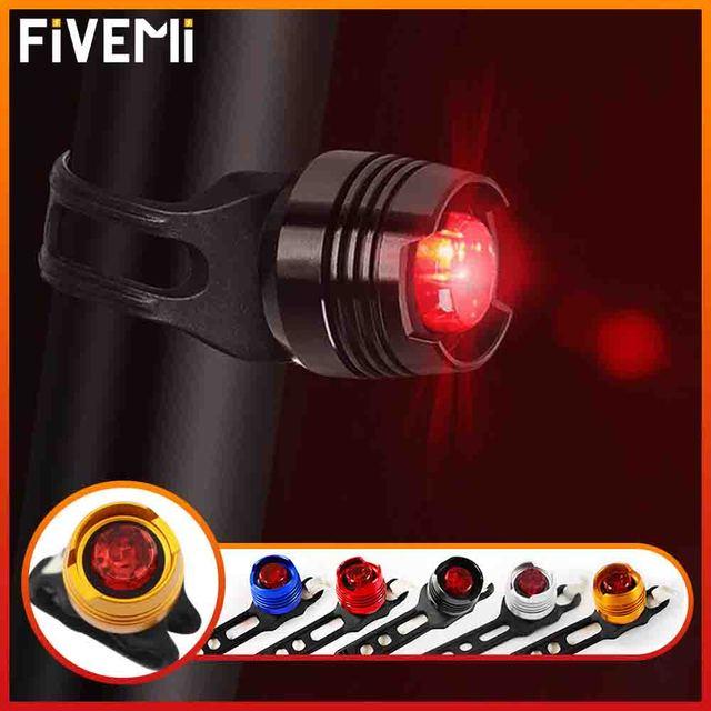 À prova dwaterproof água luzes da bicicleta cauda traseira led ciclismo lanterna lâmpada de advertência segurança ciclismo luz para montanhas bicicleta selim 1