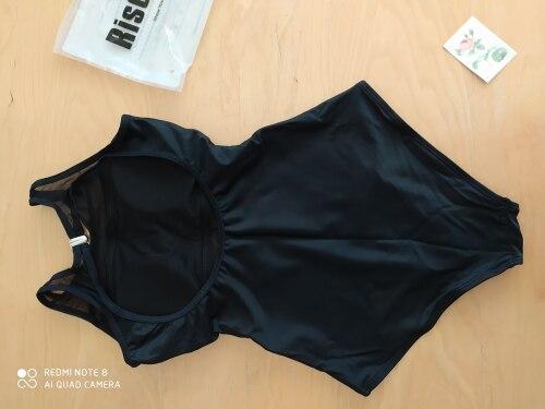 Riseado Black Mesh One Piece Swimsuit Women Swimwear New 2021 Sexy High Neck Bathing Suits Women Backless Bodysuit Plus Size XXL|Body Suits|   - AliExpress