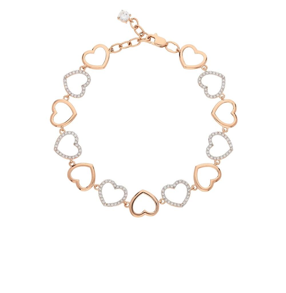Gold bracelet with cubic zirconia SUNLIGHT test 585 matrix 35040