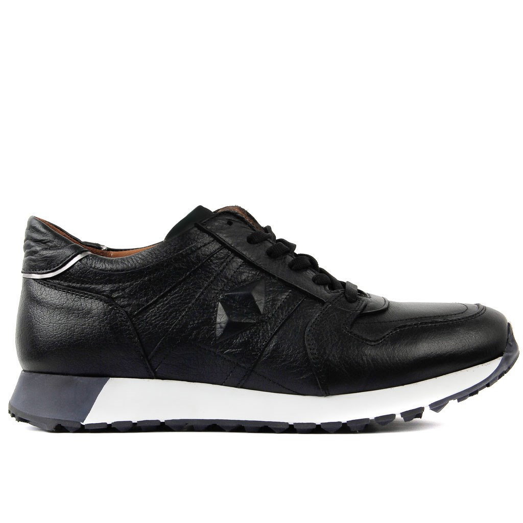 Sail-Lakers Genuine Leather Black Brown Green Men Sneaker Casual Sports Shoes Lace-up Male Shoes Comfortable Breathable Walking Outdoor Tenis Masculino Zapatillas Hombre Sapatos Adulto 2019 New Fashion