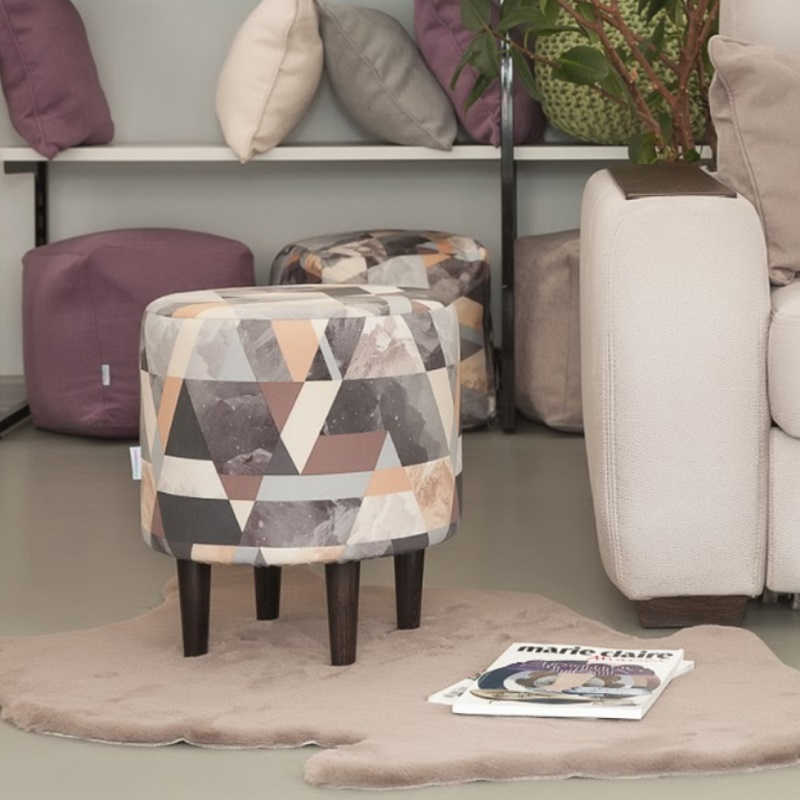 Bean Bag Sofas Delicatex Kioto Sero-bezhevyiy Ottoman Padded Stool Pouffe Furniture Living Room Decorative