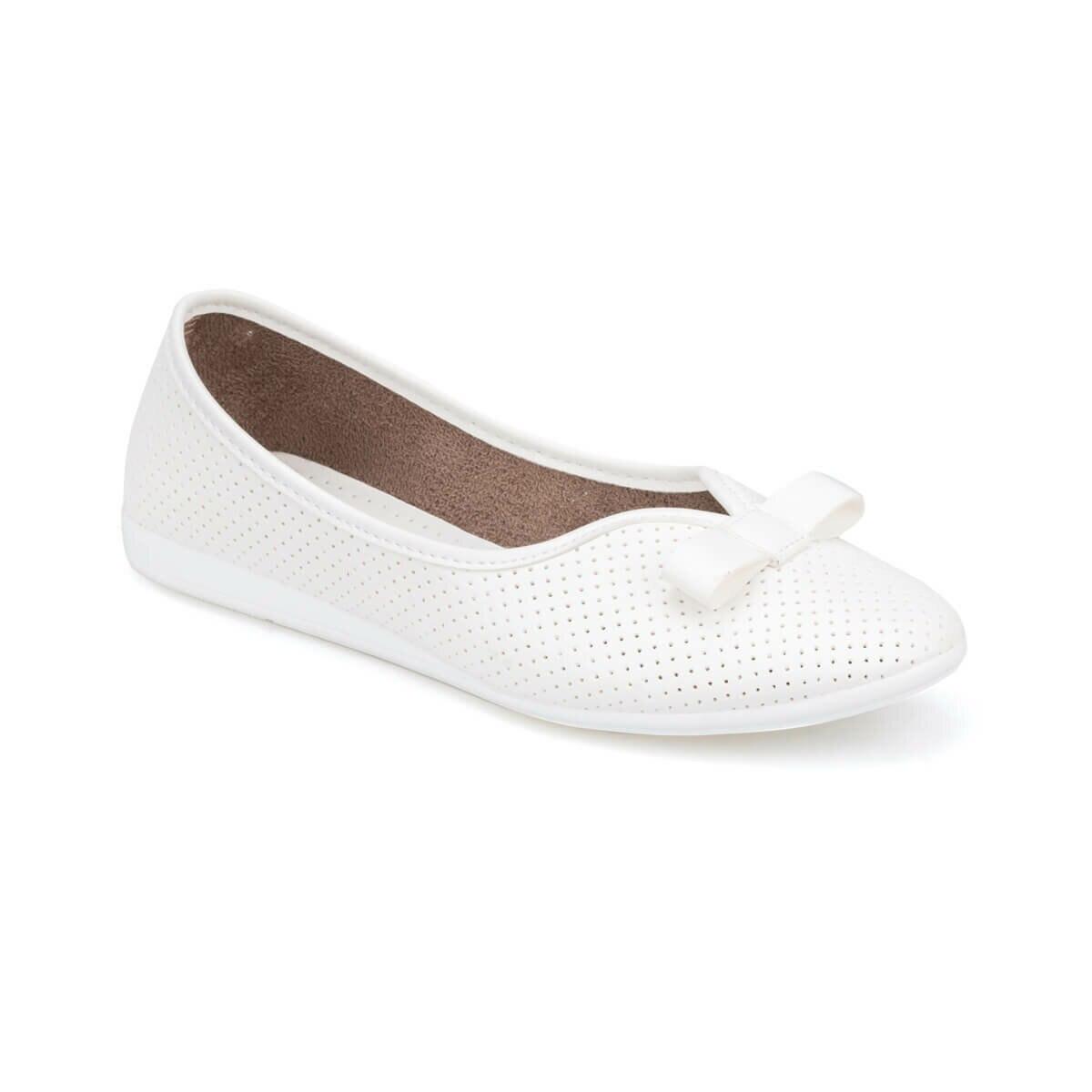 FLO 91.150748.Z White Women Ballerina Polaris