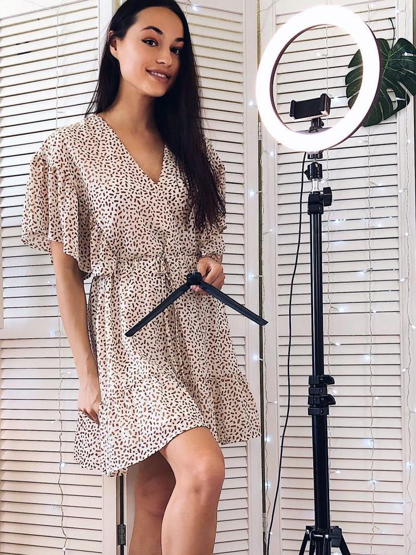 Ring-Light Lamp Tripod-Stand Phone-Holder Makeup Usb-Ring Video Led Selfie Youtube 10inch