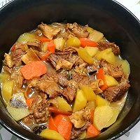 """#美食说出""""新年好""""#红烧牛腩炖土豆的做法图解7"""